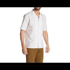 Theory Daze Grey Melange Stripe Block Shirt Size M